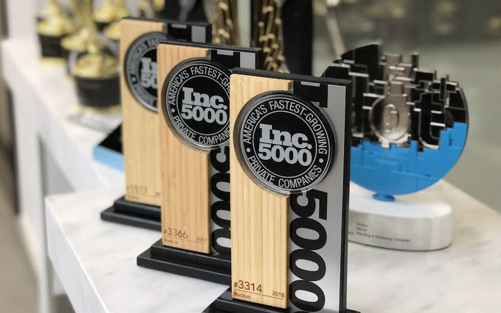 Ruckus Wins Third Inc. 5000 Award In Four Years – Ruckus